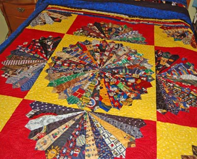 Quilting Patterns Using Men S Ties : NECK TIE QUILT PATTERN - FREE PATTERNS