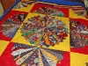 School Tie Bed Quilt Detail2