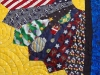 School Tie Bed Quilt Detail3