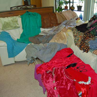 Clothes for a bereavement quilt
