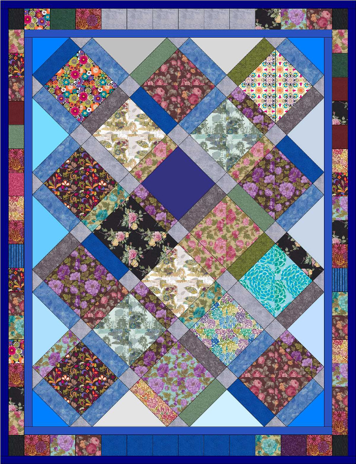 Software mockup of Bob's bereavement quilt