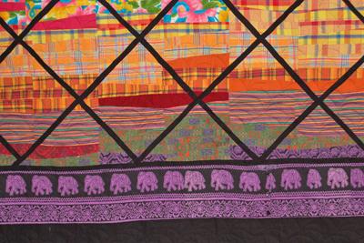 Rainbow Array Quilt Detail
