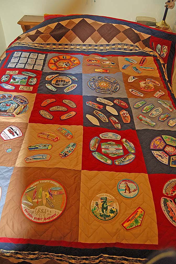 memory quilts, boy scout quilts
