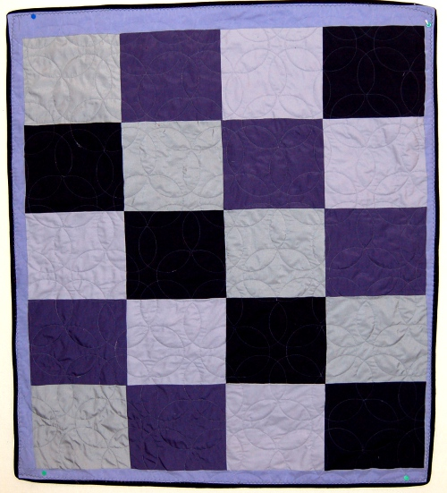 Brooklyn's cuddly quilt back re