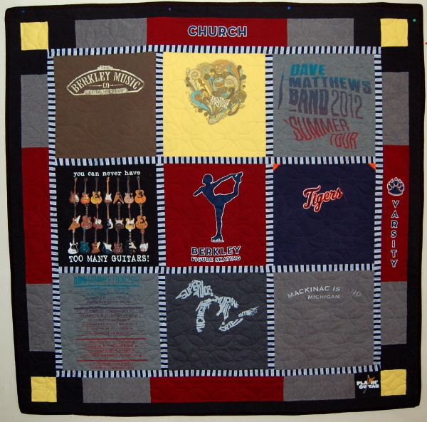 Chloe's t-shirt quilt re