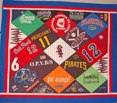 Chris' Sports T-Shirt Quilt