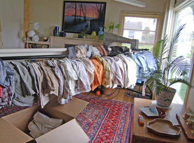 Father's clothes used to make six bereavement quilts