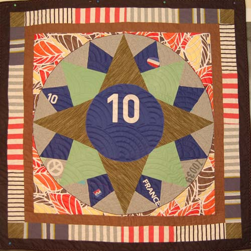 Bereavement quilt for young boy made from his mother's clothes