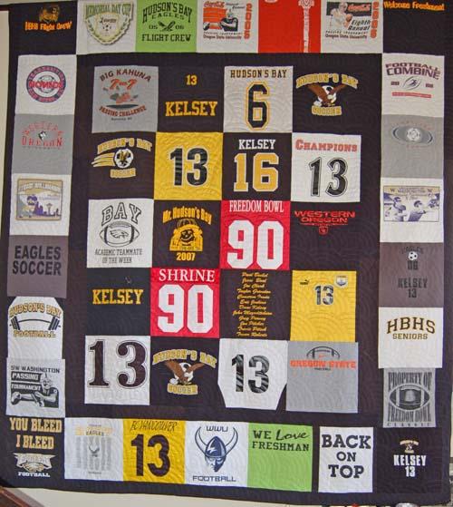 Dane's Graduation Gift - Sports Quilt
