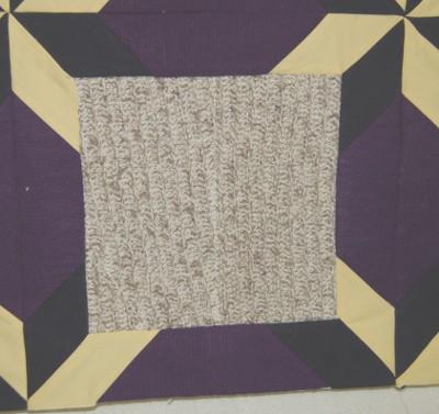 Detail of bereavement quilt