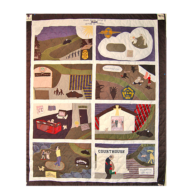 Bereavement Quilt - Story of the Life of a Policeman