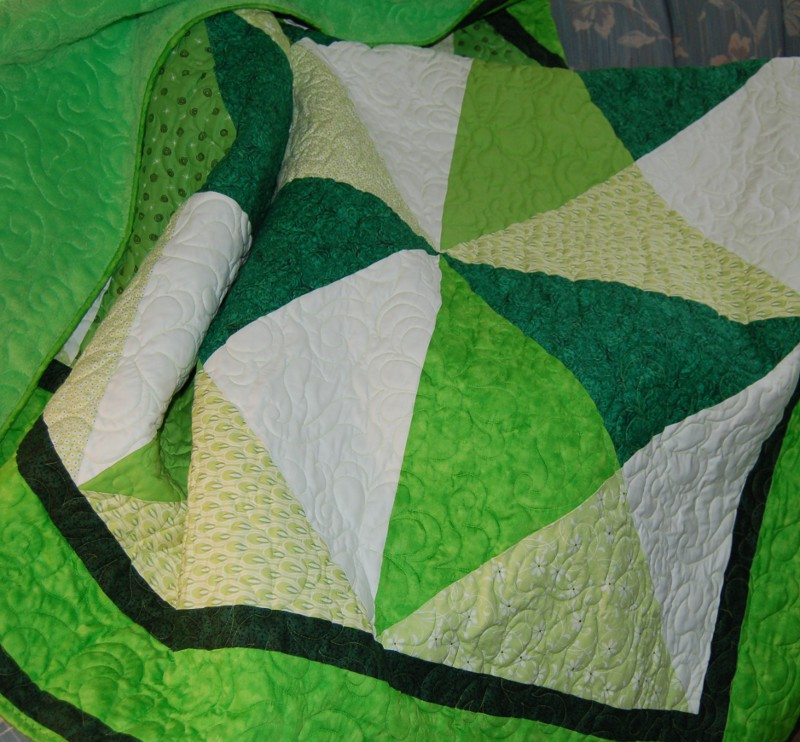 Final Quilt  Detail on Couch re