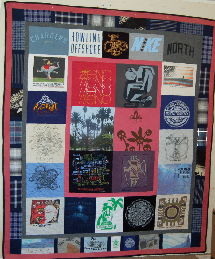 Wilson North's Bereavement T-Shirt Quilt