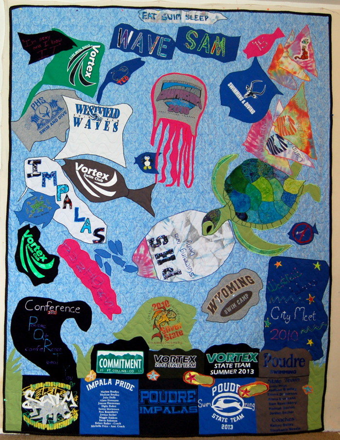 Seascape T-Shirt Quilt made for Samantha