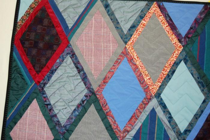 Double diamond quilt variation