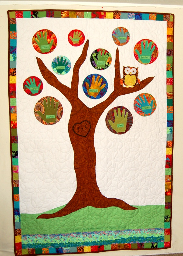 Tree of Life quilt made for ailing mother-in-law