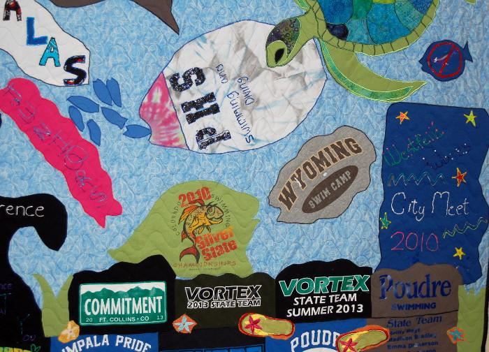 Bottom half of seascape t-shirt quilt