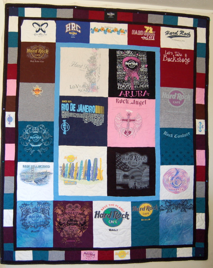 Elizabeth's Hard Rock Cafe T-Shirt Quilt