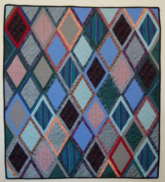 Double diamond quilt variation