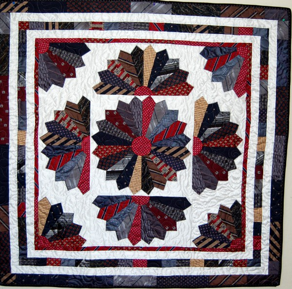 Cindy's Gift to her Mother - Tie Bereavement Quilt