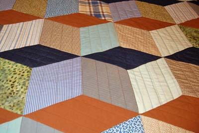 Baby Block Quilt Detail