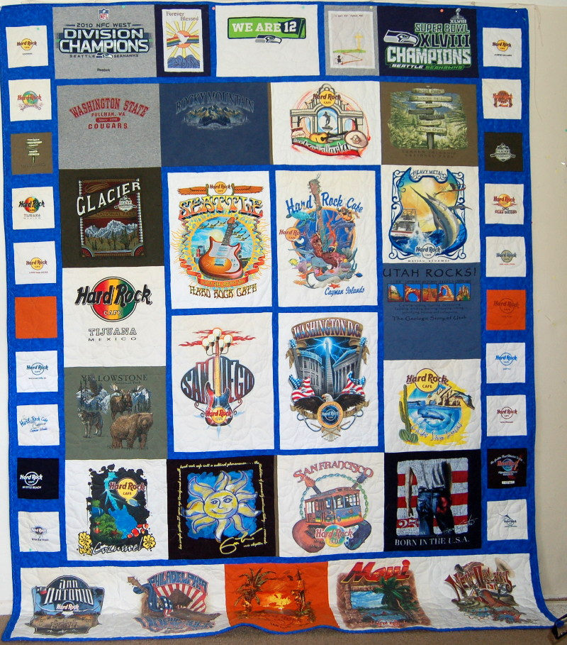 Charlene's Hard Rock Cafe T-Shirt Quilt