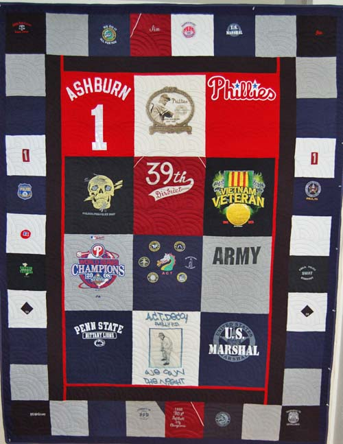 Bereavement T-Shirt and Logo Quilt honoring Policeman