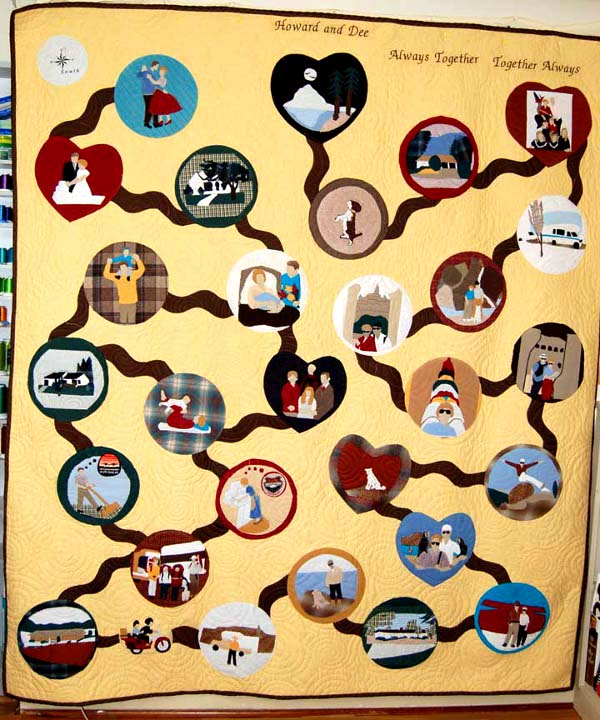 Story of Howard and Dee Bereavement Quilt told in pictures