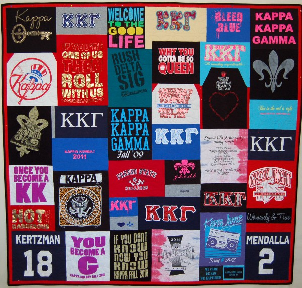 Graduation Gift - Sorority Quilt