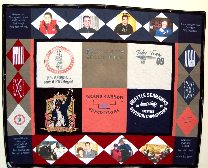 Shannon's Quilt - T-Shirt Quilt made for Father of Beloved Son