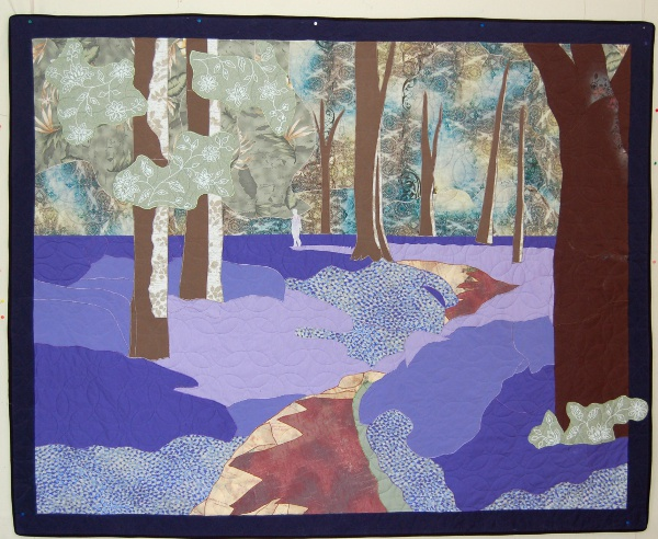 Bluebell Woods of England - Bereavement quilt honoring mother