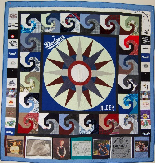 Bereavement Quilt made from son's clothes