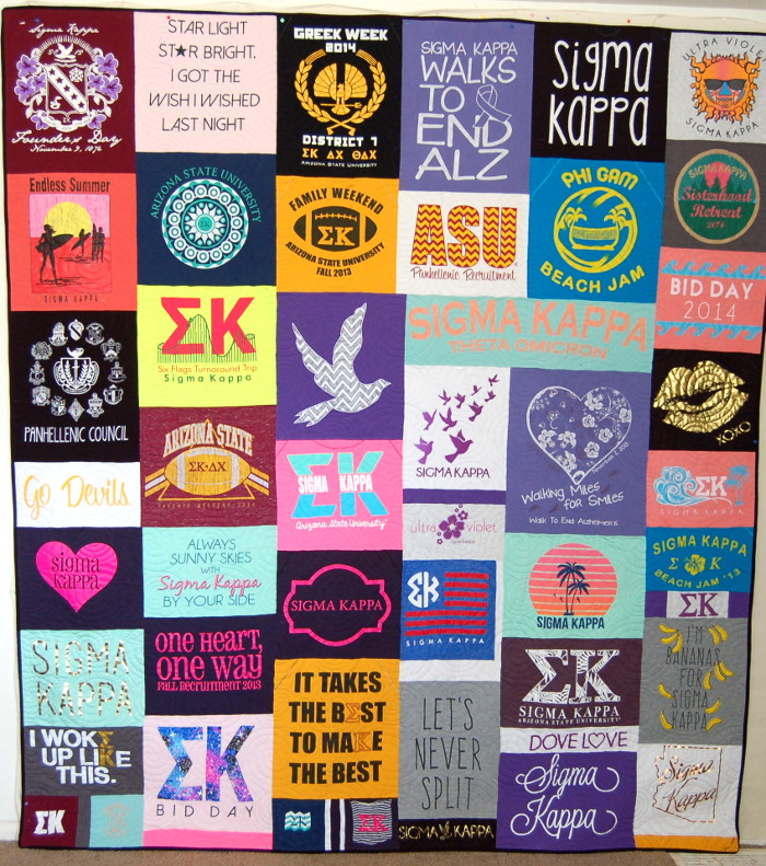 Samantha's Sorority T-shirt Quilt