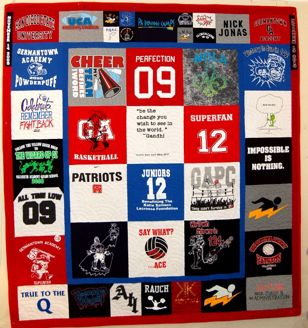T-Shirt Quilt made to celebrate 21st birthday