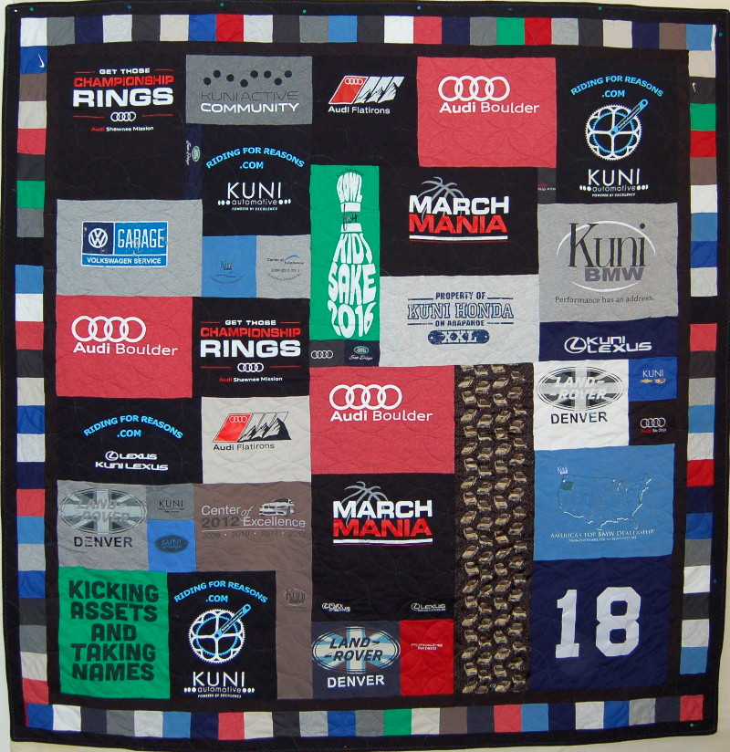35f0b69d T-Shirt Collection of Kuni Auto Dealers Honoring Retiring Owner