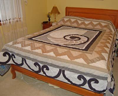 Chambered Nautilus quilt