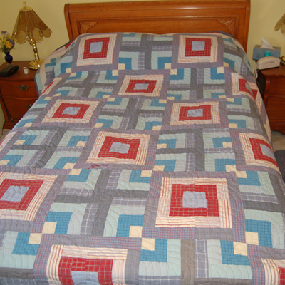 Bereavement Quilt - full sized bed quilt for young boy