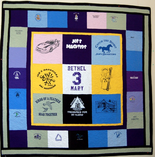 Job's Daughter's T-Shirt Quilt