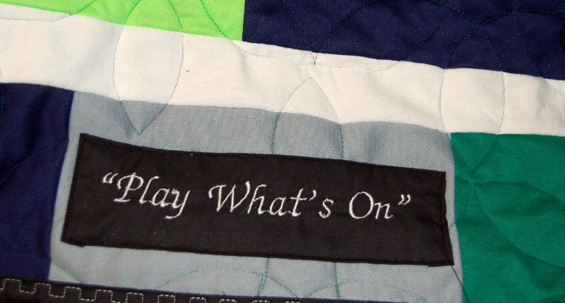 Label for Mason's soccer t-shirt quilt