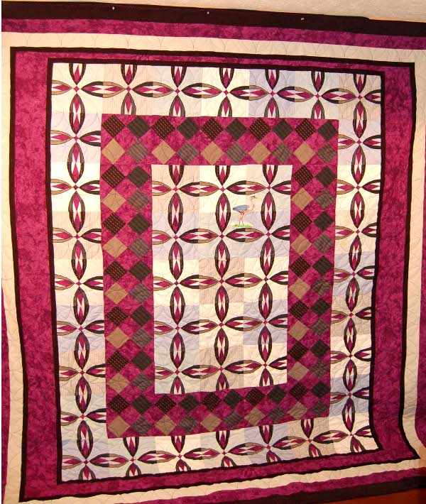 Bereavement Quilt for Nancy made from husband's clothes