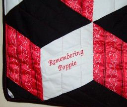 Detail of Young Peter's quilt