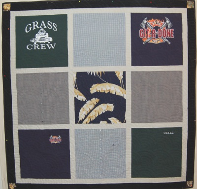 Bereavement Quilt using T-Shirts and Other Shirts