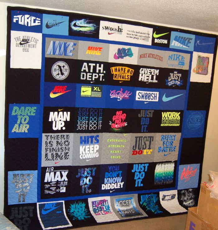 Red's Second Nike T-Shirt Quilt