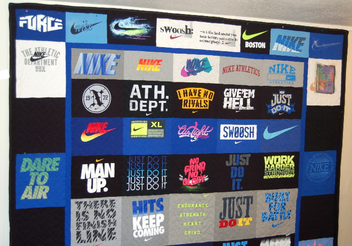 Top half of Red's Second Nike T-Shirt Quilt