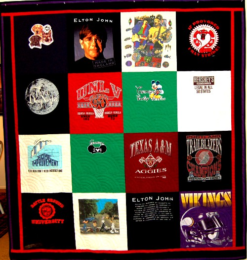 Rick's Anniversary T-Shirt Quilt