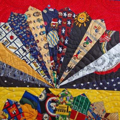 Detail 1 Tie Quilt