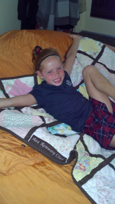 Rosie loves her quilt