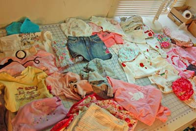 Baby Clothes to be Made into a Quilt