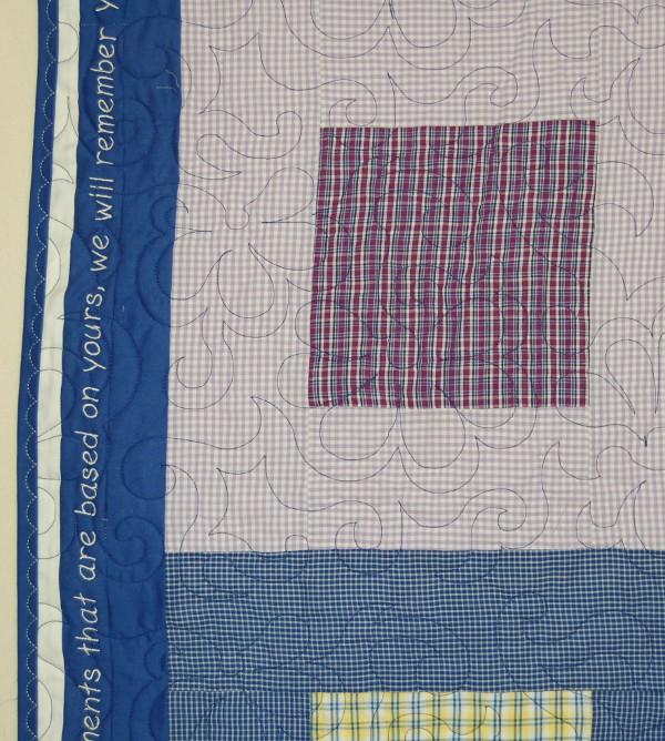 Detail of Sarah's Bereavement quilt