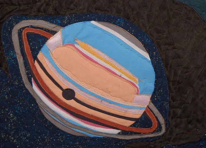 Saturn as it appears in the quasar quilt